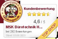 MSK Bürotechnik Handels GmbH im Preisvergleich bei Geizkragen.de