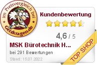MSK Bürotechnik u. Handels GmbH im Preisvergleich bei Geizkragen.de
