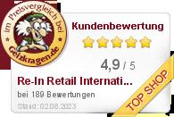 Re-In Retail International GmbH im Preisvergleich bei Geizkragen.de