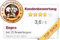 Bepro GmbH im Preisvergleich bei Geizkragen.de